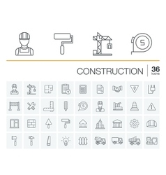 Construction industrial icons vector