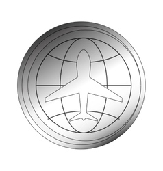 aeronautical emblem icon vector image