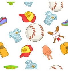 Baseball pattern cartoon style vector