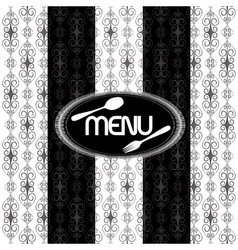 black and white vintage pattern for menu uno vector image vector image