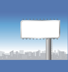 Blank billboard in the city vector