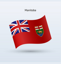 Canadian province of manitoba flag waving form vector