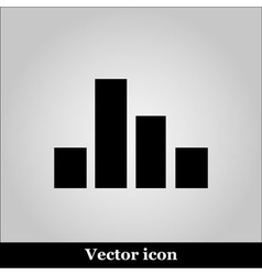 Chart Icon on grey background vector image vector image