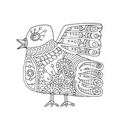 ethnic totem bird vector image
