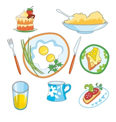everyday foods vector image
