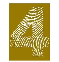 Fingerprint Alphabet No 4 vector image