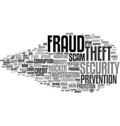 Fraud word cloud concept vector