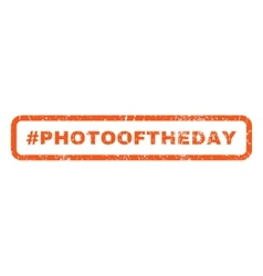 Hashtag Photooftheday Rubber Stamp vector image vector image