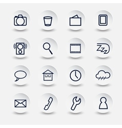 icons for Smartphone vector image