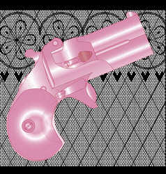 Ladies gun vector