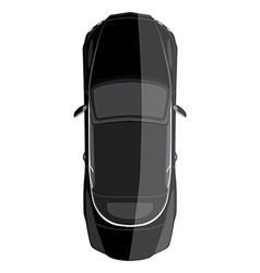 Luxury car top view vector image vector image