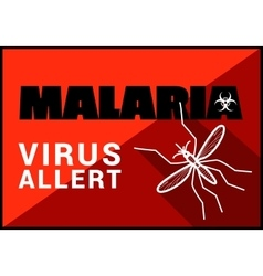 Malaria virus allert outline vector