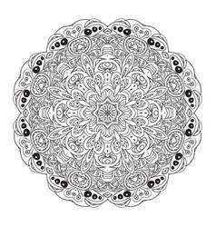 Mandala eastern pattern coloring book zentangl vector