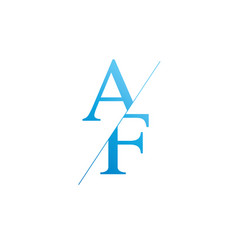 monogram letters a f logo design template vector image