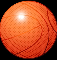 Orange 3d basketball sports equipment on black vector
