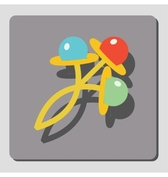 Rattles for children vector image