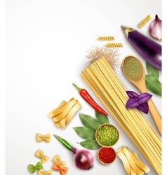 Realistic pasta template vector