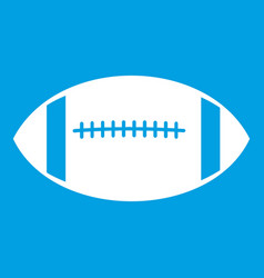 rugby ball icon white vector image
