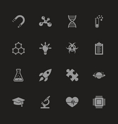 Science - flat icons vector