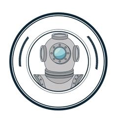 Scuba maritime emblem icon vector
