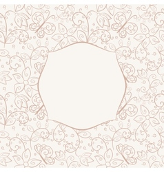 Seamless background with frame vector image