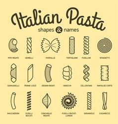 Set of pasta vector image