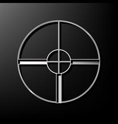 sight sign gray 3d printed vector image