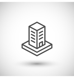 Skyscraper line icon vector