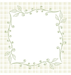 Square floral frame background vector