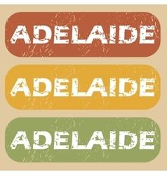 Vintage adelaide stamp set vector
