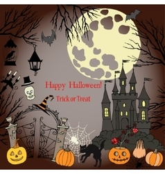 Halloween holidays decorations vector