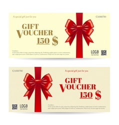 Elegant gift card or gift voucher template vector