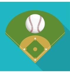 Ball and league of baseball sport design vector