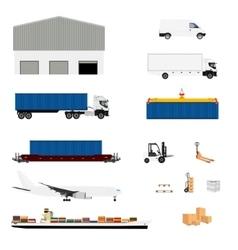 Freight transportation logistics vector