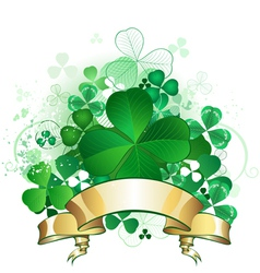 Clover with banner vector