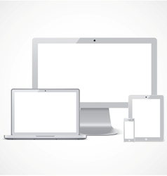 Realistic devices set template vector