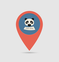 map pin zoo vector image