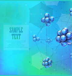 Molecules background concept vector