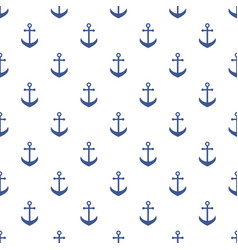background with blue anchors vector image