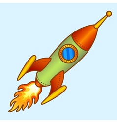 Vintage old creative rocket vector