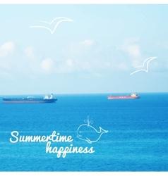 realistic sea background vector image
