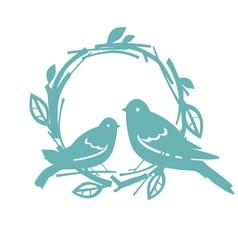 Design with blue birds vector