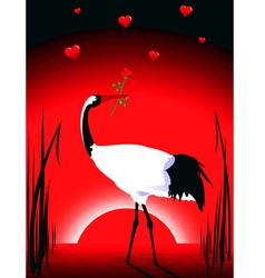 crane in love vector image