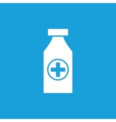Medical bottle icon white vector