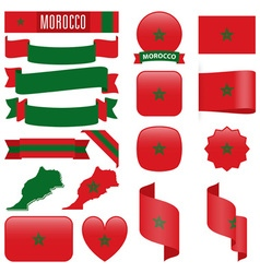 Morocco flags vector