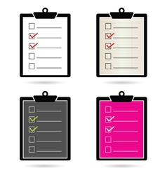 Check list set color vector