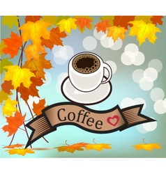 coff sbanner with coffee vector image