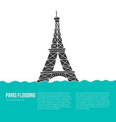 Paris flood vector