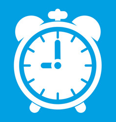 alarm clock icon white vector image
