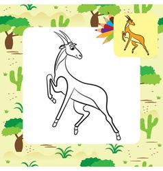 Antilopa coloring page vector